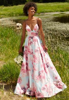 MoriLee Print A Line Dress 99046