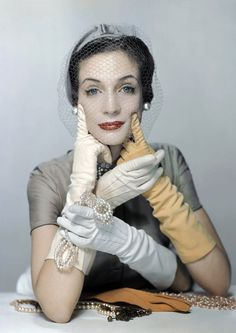 For VOGUE, 1950.  It's all about the gloves. Still have mine.