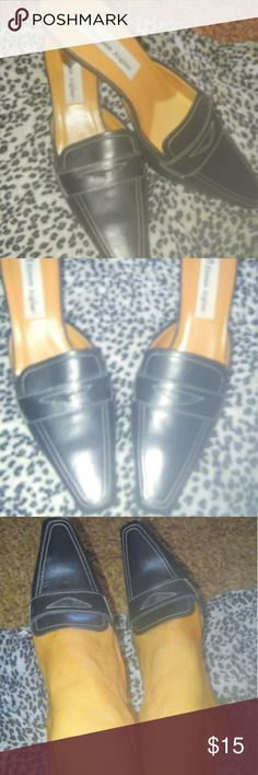 Etienne Aigner slip on shoe Comfortable, classic, blk loafer, size 7...I'm a 6.5 and it fit's me perfect. Excellent condition, no scuff marks, 1 1/2 heel Etienne Aigner Shoes Flats & Loafers