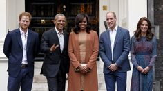 U.S. President Barack Obama and first lady Michelle Obama pose with Britain's Prince William, his wife Catherine, Duchess of Cambridge, and Prince Harry, upon arrival for dinner at Kensington Palace in London, Britain April 22, 2016. REUTERS/Kevin Lamarque via @AOL_Lifestyle Read more: http://www.aol.com/article/news/2016/11/16/here-s-what-michelle-obama-had-to-say-after-trump-s-victory/21607814/?a_dgi=aolshare_pinterest#fullscreen