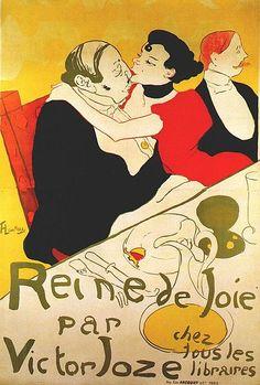 Reine de Joie, 1892. Litografía a colores (cartel). 136.5 x 93.3 cm. Musée Toulouse - Lautrec, Albi.
