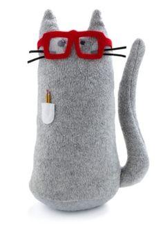 nerdy kitty by dyakit