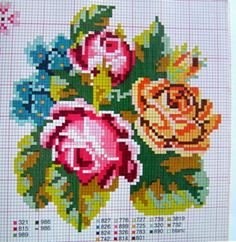 Wool Embroidery, Cross Stitch Embroidery, Cross Stitch Rose, Needlepoint, Bowser, Projects To Try, Beads, Crafts, Design