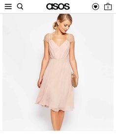 Dusty pink lace cap sleeve dress