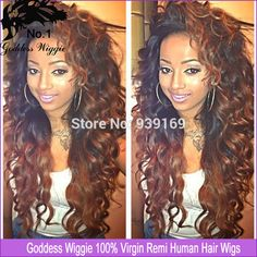 Find More Wigs Information about Loose Curly Human Hair Lace Front Wigs/Glueless Full Lace Wigs Ombre Lace Wig For Black Women Baby Hair Bleached Knots,High Quality Wigs from Goddess Wiggie No.1 Store on Aliexpress.com