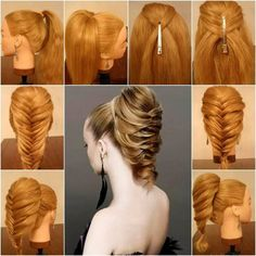 Easy hairstyles for long hair videos in urdu new 336 best hairstyle Fishtail Hairstyles, Pretty Hairstyles, Braided Hairstyles, Fishtail Ponytail, Braid Hair, Hairstyle Braid, Classic Hairstyles, Hairstyles 2018, Medium Hairstyles
