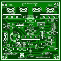 Membuat Amplifire Lapangan Micro Pakdhe Bawor Sudah sepatut nya kita berbangga dan mendorong karya - karya anak bangsa yang k… Circuit Board Design, Printed Circuit Board, Hobby Electronics, Electronics Projects, Hifi Amplifier, Circuit Diagram, Arduino, Circuits, Electronic Schematics