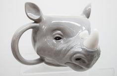Rhino Shaped Ceramic Mug #mug #rhino #animal #giftware