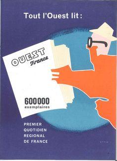 Ouest France, 1er quotidien régional de France - L'Echo de la presse et de la publicité n° 421, 25 septembre 1961