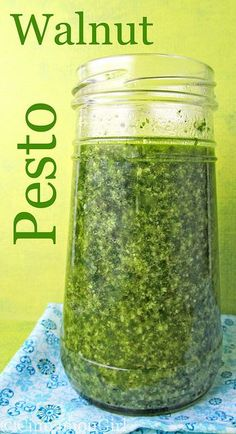 Walnut Pesto Sauce Can't wait to make this & try it. Love me some pesto!Can't wait to make this & try it. Love me some pesto! Basil Walnut Pesto, Basil Pesto, Chutneys, Cooking Recipes, Healthy Recipes, Sauce Recipes, Herb Recipes, Vitamix Recipes, Cooking Tips