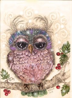 'Berry Owl' by Janet Kisch