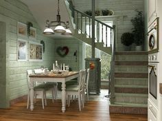Дача в стиле прованс. Кухня