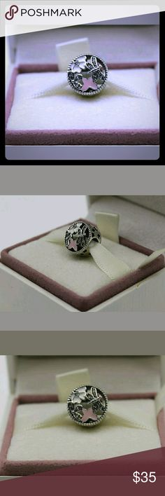 Pandora Springtime Mixed enamel Charm/ NWT Pandora Springtime Mixed Enamel Charm/NWT It has more pink enamel than the off white Sterling Silver/ Ale/s925/Slider Charm Pandora Jewelry Bracelets