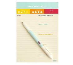 Plan your day and tick off your to do list with this Daily Notes Pad