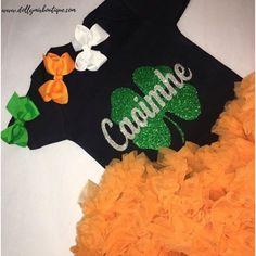 Personalised Shamrock First St.Patricks Day Babygrow Ireland Irish Clover