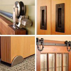 Real Sliding Hardware: Barn Door Kits — maybe for laundry room door Sliding Barn Door Hardware, Sliding Doors, Entry Doors, Rustic Hardware, Front Doors, Traditional Doors, Door Kits, Interior Barn Doors, Innovation Design