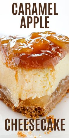 This Caramel Apple Cheesecake will satisfy your sweet tooth and is the perfect dessert to add to any meal! This Caramel Apple Cheesecake will satisfy your sweet tooth and is the perfect dessert to add to any meal! Caramel Apple Cheesecake Bars, Easy Cheesecake Recipes, Cheesecake Desserts, Köstliche Desserts, Delicious Desserts, Dessert Recipes, Classic Cheesecake, Homemade Cheesecake, Food Cakes