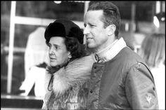 Fabiola et Baudoin en vacances au ski en 1976