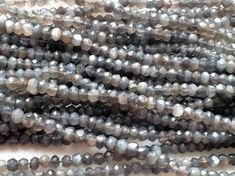 WHOLESALE 5 Strands Grey Moonstone Micro Faceted by gemsforjewels