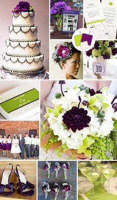 Love the black and white wedding cake