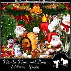 "HorsePlay's Pasture Designs: *NEW ""Miracles, Magic and Heart"" TS kit and tutori. Paint Shop, Psp, Tutorials, Magic, Christmas Ornaments, Digital, Holiday Decor, Heart, Painting"
