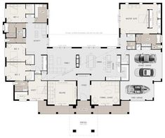 U Shaped House Plans with Courtyard Pool Lovely Floor Plan Friday U Shaped 5 Bed. U Shaped House Plans with Courtyard Pool Lovely Floor Plan Friday U Shaped 5 Bedroom Family Home U Shaped House Plans, U Shaped Houses, Big Houses, Dream Houses, Family Houses, Layouts Casa, House Layouts, Dream House Plans, House Floor Plans
