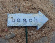 Sign for Miniature Gardens! Beach Themed Sign, Looks Good in Fairy Gardens!