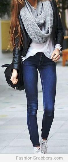 trendy fall outfit ideas with white sneakers! Its the HOTTEST trend! check! <3