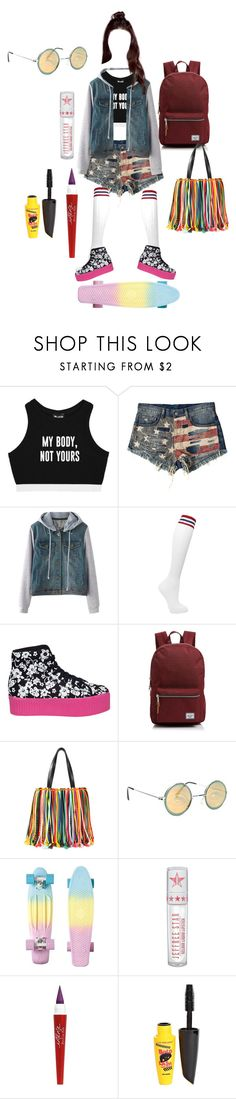 """Skyler stilinski"" by samtiritilli on Polyvore featuring Minga, Denim & Supply by Ralph Lauren, Maria La Rosa, Jeffrey Campbell, Herschel Supply Co., Emilio Pucci, Jeffree Star and L.A. Colors"