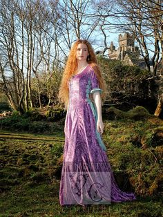Medieval inspired fairytale dress Wedding gown by VendettaCouture