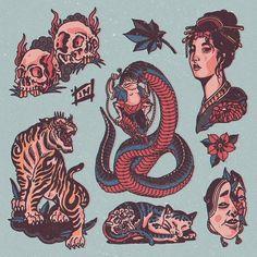 Tattoo Mafia, Cowboy Tattoos, Insect Tattoo, Traditional Tattoo Flash, American Dad, American Traditional, Flower Tattoo Designs, Old Art, Tattoo Drawings