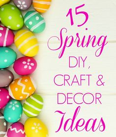 Celebrate spring with these gorgeous DIY & craft ideas you'll love-- from modern  wreaths to festive centerpieces, kids crafts, and more!