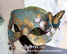 The Secret Garden - Handmade Leather Mask. $315.00, via Etsy.