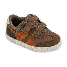 Toddler Boys' Casey Mid Top Casual Sneakers Cat & Jack - Brown 10