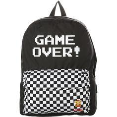 f6a88ebf93070 Womens Vans Nintendo Backpack Cotton (1.195.805 VND) ❤ liked on Polyvore  featuring bags, backpacks, backpack, women, knapsack bag, print backpacks,  ...