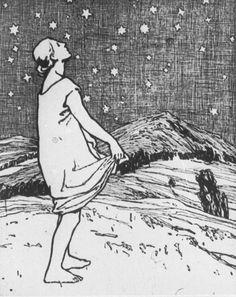 """""""Die Sterntaler"""", Otto Ubbelohde (Grimms Märchen)"""