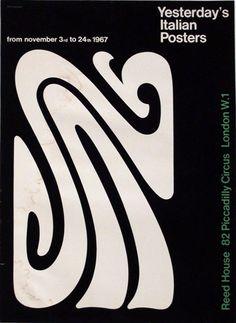 Secondo manifesto progettato da Franco Grignani per la mostra, 1967.