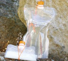 Evernew water bladder  These are among the lightest water carriers I've found.  I especially like the cord keep for the cap.