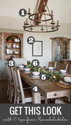 """Get This Look: Farmhouse Dining Room, Fixer Upper """"A Lot of Options"""" House (Remodelaholic) Warm Dining Room, Dining Room Design, Dining Rooms, Fixer Upper, Farmhouse Style Kitchen, Modern Farmhouse, Farmhouse Table, Kitchen Decor, Room Kitchen"""