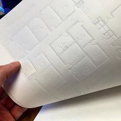 Braille architecture plan - As architects, we have a responsibility to design and communicate our ideas to all. Would love to see more of this by @situstudio  #ArchiSketcher