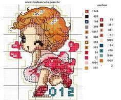Mania de Médis: Maio 2013 Small Cross Stitch, Cross Stitch For Kids, Cute Cross Stitch, Cross Stitch Alphabet, Cross Stitch Designs, Cross Stitch Patterns, Hello Kitty, Cross Stitch Collection, Embroidery Techniques