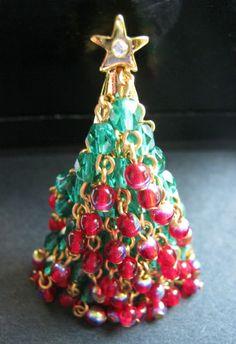 Hattie Carnegie Christmas Tree Pin