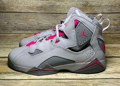 e0747c2ca7d0 Air Jordan True Flight Nike Girls Size 6.5Y Shoes 342774-018 Youth Kids Gray