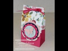 In this video, I teach how to make this bag using the Gift Bag punch board and other supplies from Stampin' Up! If you'd like to view photos of the project, ...