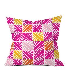 Take a look at this Bright Facets Throw Pillow by DENY Designs on #zulily today!