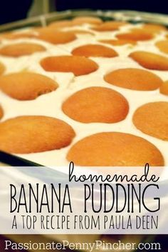 Paula Deen's Banana Pudding (mmmmm. Passionate Penny Pincher is the source printable & online coupons! Get your promo codes or coupons & save. Best Banana Pudding, Banana Pudding Recipes, Pudding Desserts, Pudding Cake, Dessert Recipes, Paula Dean Banana Pudding, Banana Pudding Cream Cheese, Vanilla Wafer Banana Pudding, Homemade Banana Pudding Recipe Paula Deen