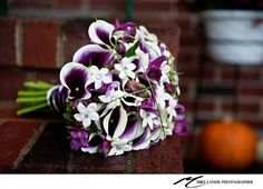 purple and white calla bouquet - A Garden Party | Bouquets