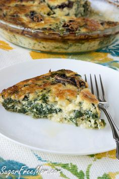 Crustless Mushroom Spinach Pie