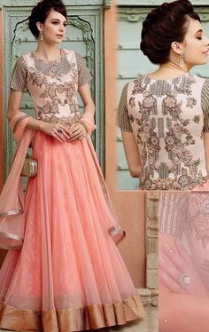 Incredible Blush Pink Designer Anarkali Suit