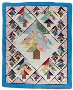 "May 2013 - Big Tree Crib QuiltBig Tree crib quilt 45.5"" x 37"" Machine pieced and quilted by Ernest B. Haight, c. 1968 Made in Butler County, Nebraska 2010.039.0001, Gift of Nancy Bavor in honor of Jonathan Gregory"
